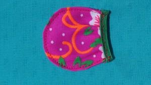 Pochette fournitures - détail poche gomme