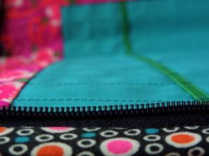 Pochette fournitures - détail zip