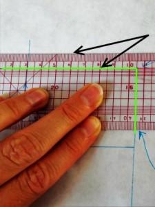 Bon placement crop outils pour vérifier les verticales et horizontales