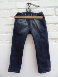 Devant jean recyclé