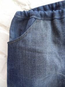 détails poches jean italiennes