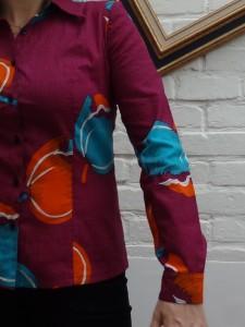 détail emmanchure manche chemise