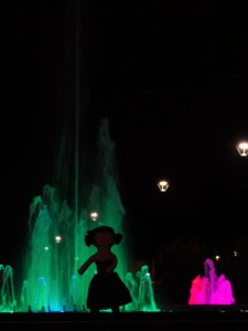 devant la fontaine verte