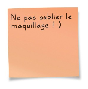 post it  maquillage