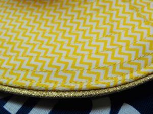 bord de chapeau passepoil doré couture cours