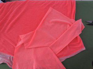 placement des 3 tissus pour former la poche