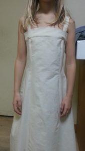 devant avant retouche toile robe soie