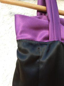 robe soie doublure sous piqure cintre