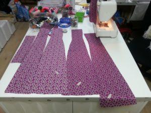 robe soie pieces coupées
